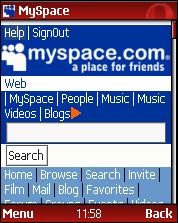 opera mini myspace